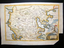 Greece, Macedonia, Thessaly, Epirus C1750 Hand Col Antique Map
